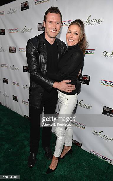 Actors Jason O'Mara and Paige Turco attend the 9th Annual Oscar Wilde Honoring The Irish In Film PreAcademy Awards event at Bad Robot on February 27...