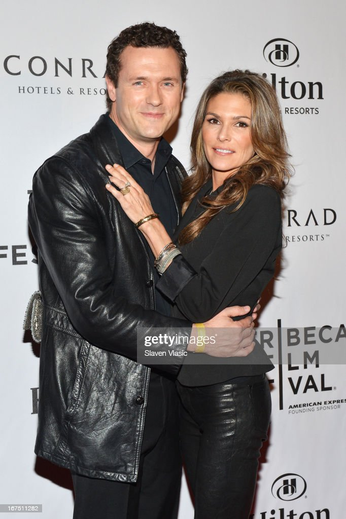 Actors Jason O'Mara (L) and Paige Turco attend the TFF Awards Night during the 2013 Tribeca Film Festival on April 25, 2013 in New York City.
