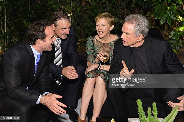 Actors Jason Patric Chris Noth Annette Bening and Warren Beatty attend the 2016 GQ Men of the Year Party at Chateau Marmont on December 8 2016 in Los...