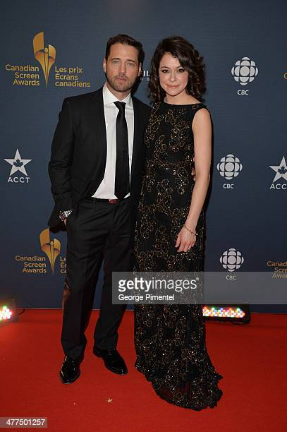 Actors Jason Priestley and Tatiana Maslany arrive at the Canadian Screen Awards at Sony Centre for the Performing Arts on March 9 2014 in Toronto...