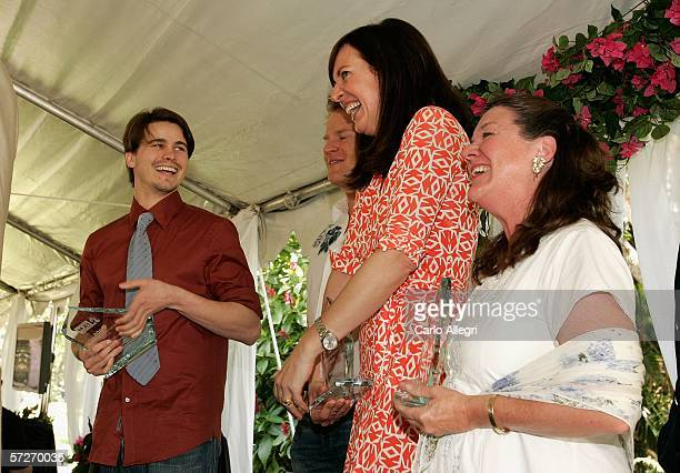 Actors Jason Ritter Allison Janney and Mary Badham receive awards at the Luncheon Under The Banyans during the Sarasota Film Festival at the Marie...