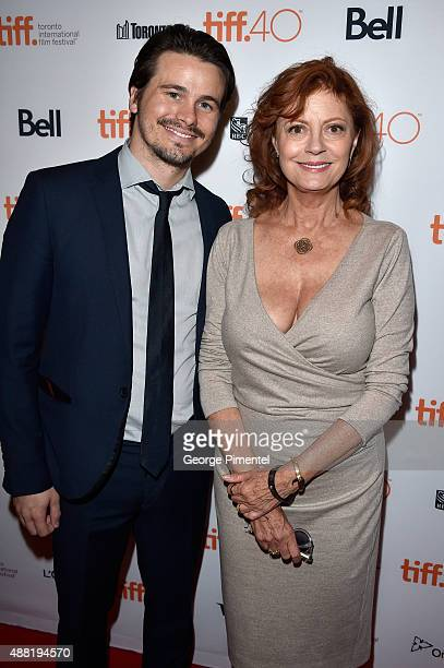 Actors Jason Ritter and actress/executive producer Susan Sarandon attend The Meddler premiere during the 2015 Toronto International Film Festival at...
