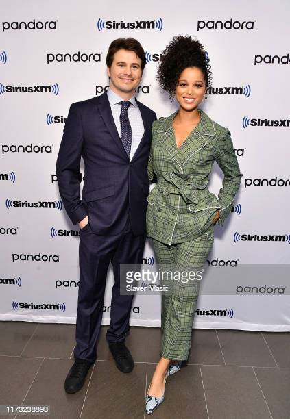 Actors Jason Ritter and Alisha Wainwright visit SiriusXM Studios to promote the television show Raising Dionon October 2 2019 in New York City
