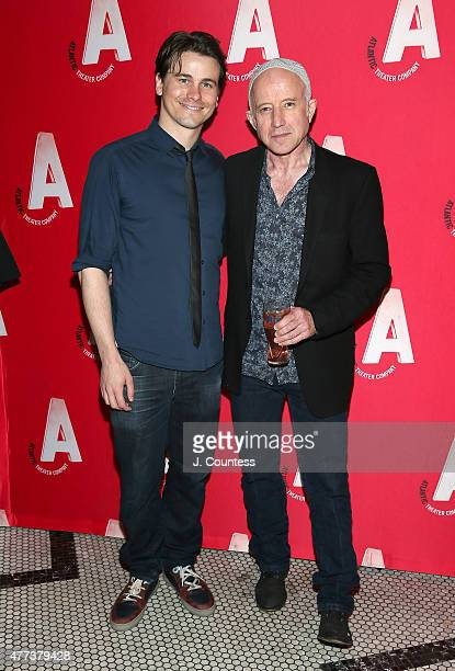 Actors Jason Ritter and Arliss Howard attend the Ghost Stories The Shawl And Prairie Du Chien Off Broadway Opening Night after party at Jake's Saloon...
