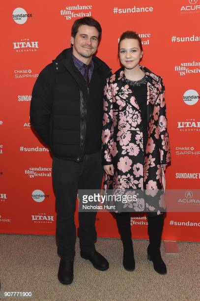 Actors Jason Ritter and Isabelle Nélisse attend 'The Tale' Premiere during 2018 Sundance Film Festival at Eccles Center Theatre on January 20 2018 in...
