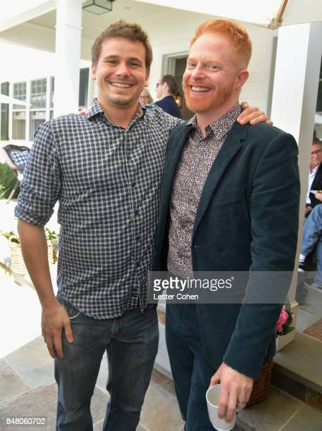 Actors Jason Ritter and Jesse Tyler Ferguson attend the ICM Partners PreEmmy Brunch on September 16 2017 in Santa Monica California