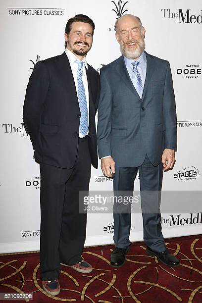 Actors Jason Ritter and J.K. Simmons attend Sony Pictures Classics Los Angeles Premiere Of 'The Meddler' at Pacific Theatre at The Grove on April 13,...