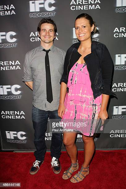 Actors Jason Ritter and Marianna Palka attend the premiere of 'Contracted Phase II' at Arena Cinema Hollywood on September 3 2015 in Hollywood...