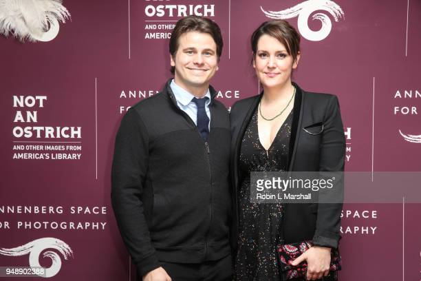 Actors Jason Ritter and Melanie Lynskey attend Annenberg Space For Photography's 1st Exhibit of 2018 Not An Ostrich And Other Images From America's...