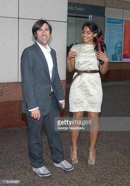 Actors Jason Schwartzman and Amara Karan arrive at the New York Film Festival press conference for 'The Darjeeling Limited' September 27 2007 at...