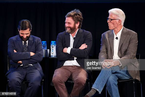 Actors Jason Schwartzman Zach Galifianakis And Ted Danson Speak News Photo Getty Images
