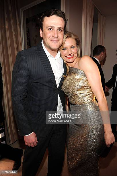 Actors Jason Segel and Cameron Diaz attend the 2010 Vanity Fair Oscar Party hosted by Graydon Carter at the Sunset Tower Hotel on March 7, 2010 in...