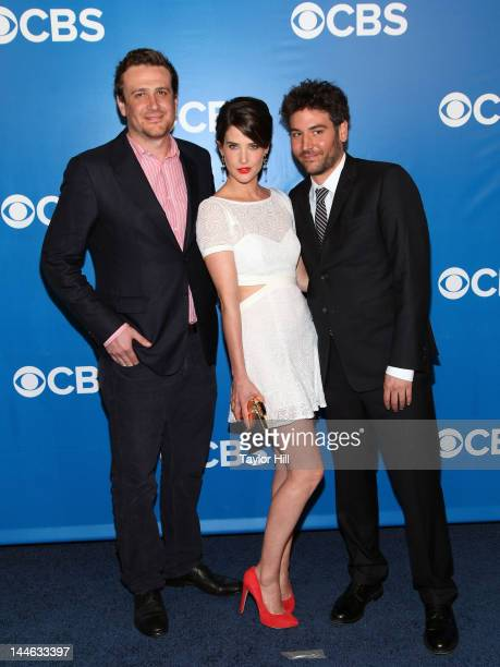 Actors Jason Segel Cobie Smulders and Josh Radnor attend the 2012 CBS Upfronts at The Tent at Lincoln Center on May 16 2012 in New York City