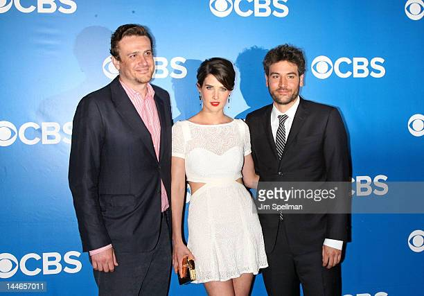 Actors Jason Segel Cobie Smulders and Josh Radnor attend the CBS Upfront 2012 at The Tent at Lincoln Center on May 16 2012 in New York City