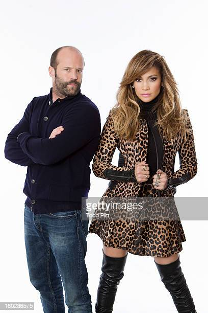 Actors Jason Statham and Jennifer Lopez are photographed for USA Today on January 22 2013 in New York City