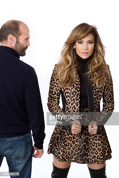 Actors Jason Statham and Jennifer Lopez are photographed for USA Today on January 22 2013 in New York City PUBLISHED IMAGE