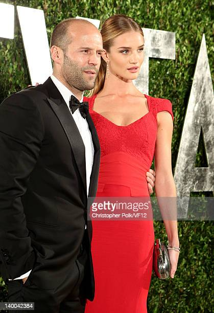 Actors Jason Statham and Rosie HuntingtonWhiteley attend the 2012 Vanity Fair Oscar Party Hosted By Graydon Carter at Sunset Tower on February 26...