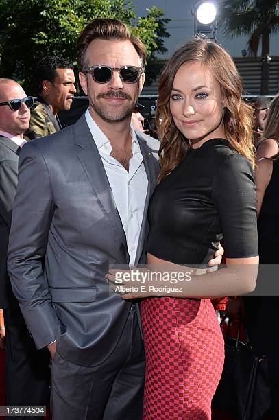 Actors Jason Sudeikis and Olivia Wilde attend The 2013 ESPY Awards at Nokia Theatre LA Live on July 17 2013 in Los Angeles California