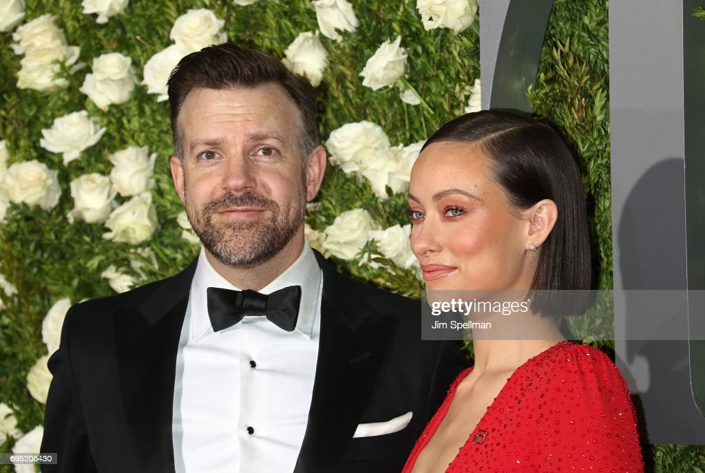 Actors Jason Sudeikis and Olivia Wilde attend the 71st Annual Tony Awards at Radio City Music Hall on June 11, 2017 in New York City.