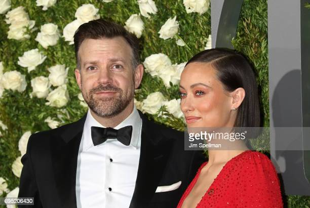 Actors Jason Sudeikis and Olivia Wilde attend the 71st Annual Tony Awards at Radio City Music Hall on June 11 2017 in New York City