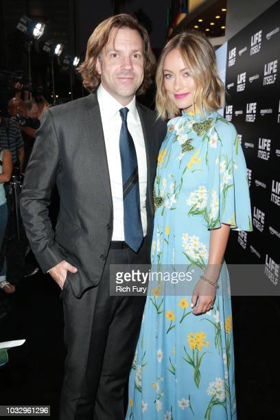 """Actors Jason Sudeikis and Olivia Wilde attend the premiere of Amazon Studios' """"Life Itself"""" at ArcLight Cinerama Dome on September 13, 2018 in..."""
