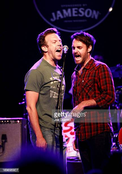 Actors Jason Sudeikis and Will Forte perform onstage at Stones Fest LA Sponsored by Jameson at The Fonda Theatre on May 30 2013 in Los Angeles...