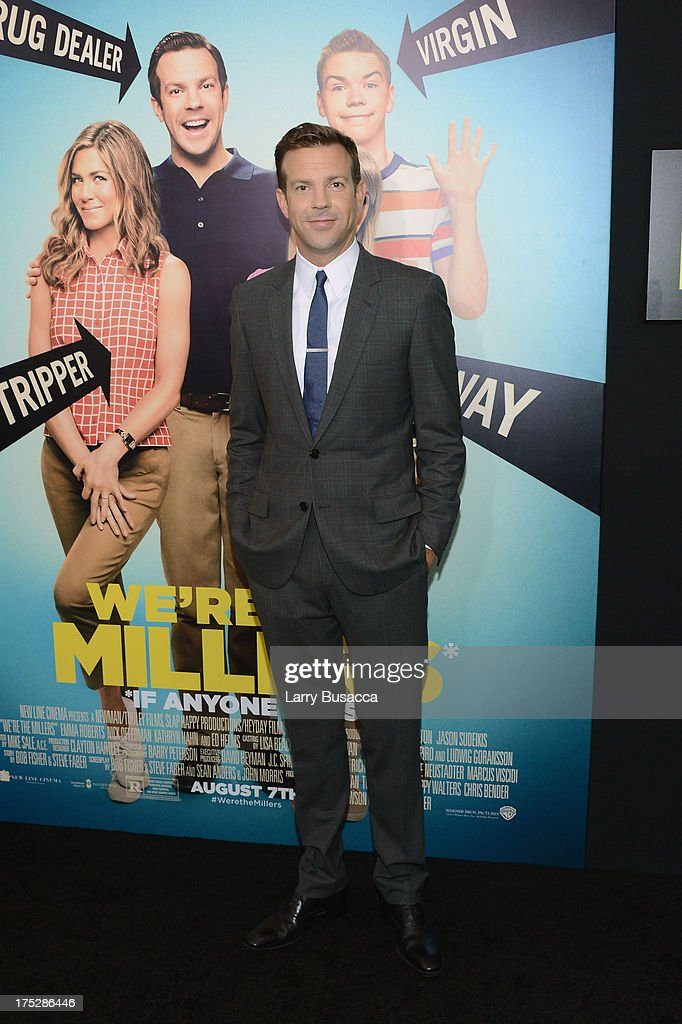 Actors Jason Sudeikis attends the 'We're The Millers' New York Premiere at Ziegfeld Theater on August 1, 2013 in New York City.