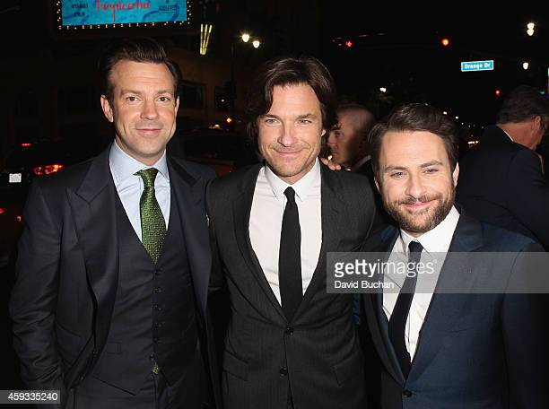 Actors Jason Sudeikis Jason Bateman and Charlie Day attend the Los Angeles premiere of New Line Cinema's 'Horrible Bosses 2' at TCL Chinese Theatre...
