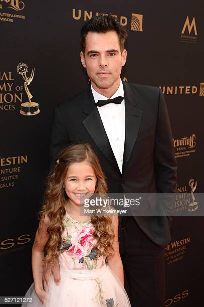 Actors Jason Thompson and Brooklyn Rae Silzer arrive at the 43rd Annual Daytime Emmy Awards at the Westin Bonaventure Hotel on May 1 2016 in Los...