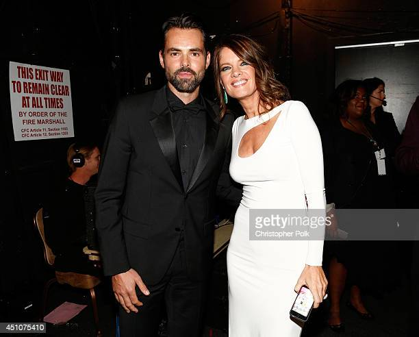 Actors Jason Thompson and Michelle Stafford attend The 41st Annual Daytime Emmy Awards at The Beverly Hilton Hotel on June 22 2014 in Beverly Hills...