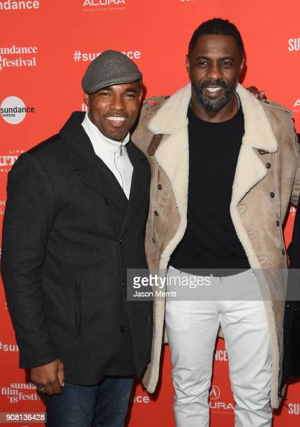 Actors Jason Winston George and Idris Elba attends Yardi Premiere during the 2018 Sundance Film Festival at The Ray on January 20 2018 in Park City...