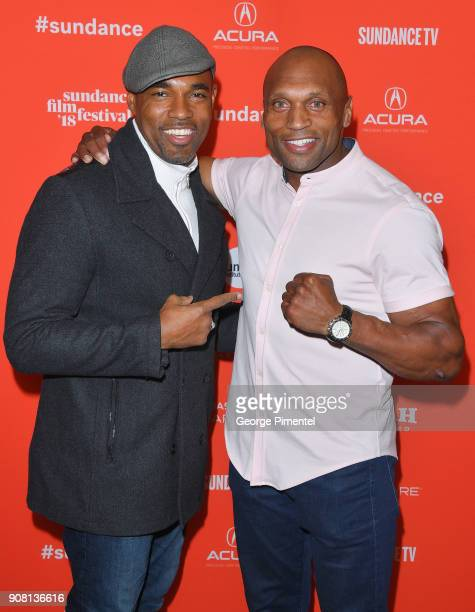 Actors Jason Winston George and Mark Rhino Smith attend 'Yardi' Premiere during the 2018 Sundance Film Festival at The Ray on January 20 2018 in Park...