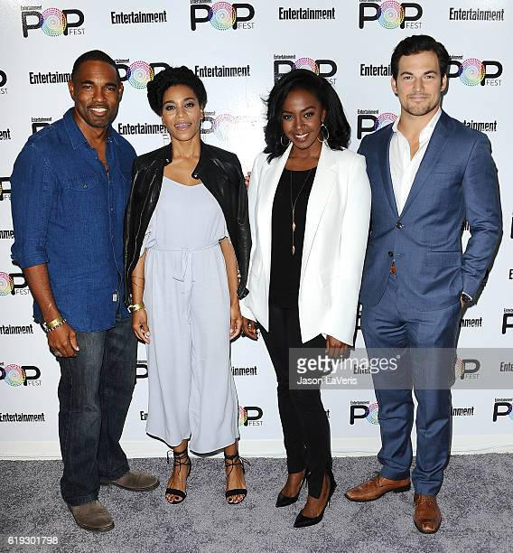 Actors Jason Winston George Kelly McCreary Jerrika Hinton and Giacomo Gianniotti attend Entertainment Weekly's Popfest at The Reef on October 30 2016...