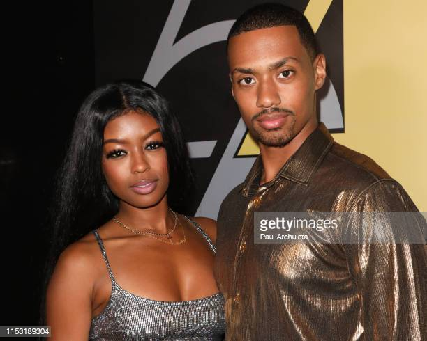 Actors Javicia Leslie and Arrington Foster attend her birthday celebration on June 01 2019 in Los Angeles California