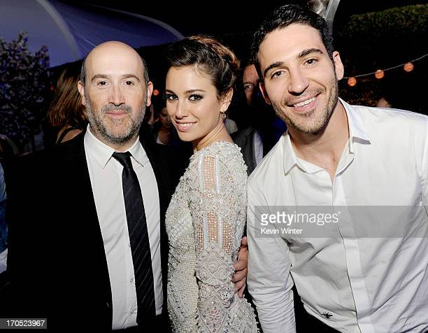 Actors Javier Camara Blanca Suarez and Miguel Angel Silvestre arrive at the premiere of Sony Pictures Classics I'm So Excited during the 2013 Los...