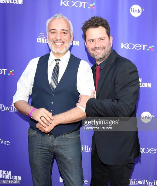 Actors Javier FuentesLeon and Juan Davis attend a screening of the winners of the Fine Cut Festival of Films hosted by KCET and Link TV at the...