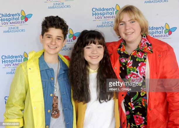 Actors Jax Malcolm Chloe Noelle and Connor Dean attend the 2nd Annual #Action Jax Movie Morning Fundraiser screening of 'The Goonies' presented by...