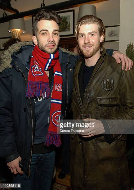 Actors Jay Baruchel and Jon Foster attends the Michael London and Groundswell Productions Party on January 19 2008 in Park City Utah
