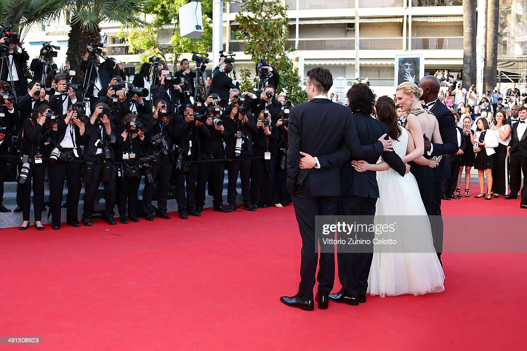Actors Jay Baruchel, Kit Harington, America Ferrera, Cate Blanchett and Djimon Hounsou attend the 'How To Train Your Dragon 2' premiere during the 67th Annual Cannes Film Festival on May 16, 2014 in Cannes, France.