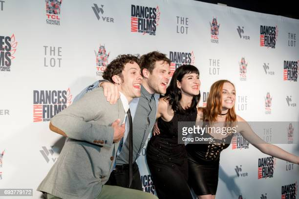 Actors Jay DeYonker Ben Rappaport Marzy Hart and Raeden Greer attend the Landing Up World Premiere during 20th Annual Dances With Films at TCL...