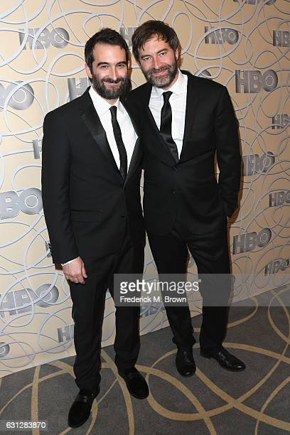 Actors Jay Duplass and Mark Duplass attend HBO's Official Golden Globe Awards After Party at Circa 55 Restaurant on January 8 2017 in Beverly Hills...