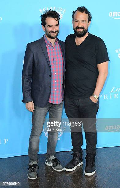 Actors Jay Duplass and Steve Zissis attend the premiere of Roadside Attractions' 'Love And Friendship' at Directors Guild of America on May 3, 2016...