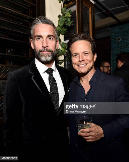 Actors Jay Harrington and Scott Wolf attend the Sony Pictures Television LA Screenings Party at Catch LA on May 24 2017 in Los Angeles California