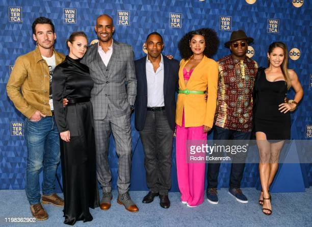 Actors Jay Hayden, Danielle Savre, Boris Kodjoe, Jason George, Barrett Doss, Okieriete Onaodowan, and Jaina Lee Ortiz attend the ABC Television's...