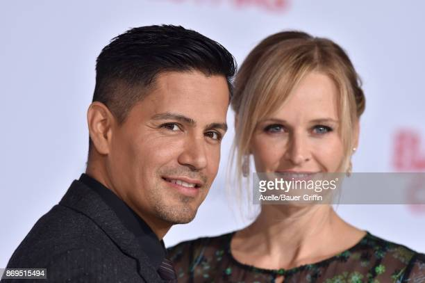 Actors Jay Hernandez and Daniella Deutscher arrive at the Los Angeles premiere of 'A Bad Moms Christmas' at Regency Village Theatre on October 30,...