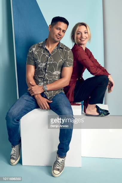 Actors Jay Hernandez and Perdita Weeks of CBS's 'Magnum PI' pose for a portrait during the 2018 Summer Television Critics Association Press Tour at...