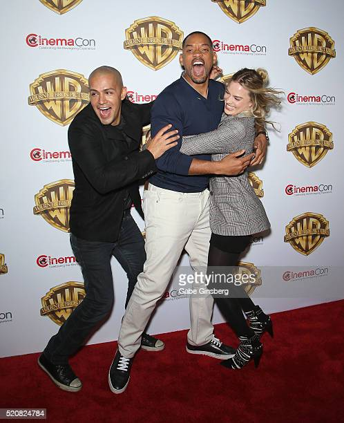 Actors Jay Hernandez Will Smith and actress Margot Robbie attend Warner Bros Pictures' The Big Picture an exclusive presentation highlighting the...