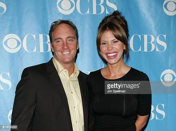 Actors Jay Mohr and Nikki Cox arrives at the 2008 CBS UpFront at Carnegie Hall on May 14 2008 in New York City