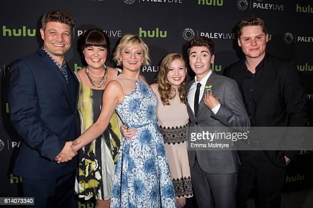 Actors Jay R Ferguson Mary Hollis Inboden Martha Plimpton Bebe Wood Noah Galvin and Matt Shively arrive at the PaleyLive LA ABC's 'The Real O'Neals'...