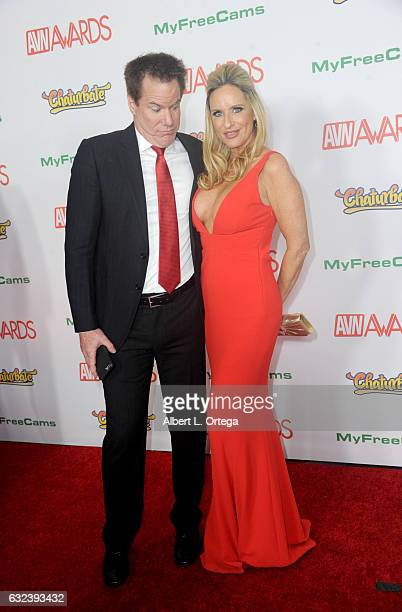 Actors Jay West and Jodi West arrive at the 2017 Adult Video News Awards held at the Hard Rock Hotel Casino on January 21 2017 in Las Vegas Nevada